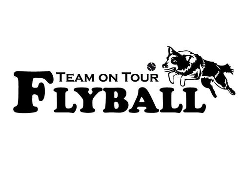 Aufkleber - Flyball Team on Tour (50x15cm)