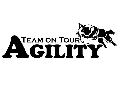 Aufkleber-Agility Team on Tour Border Collie (15x4,5cm)