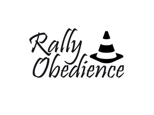 Rally Obedience Aufkleber (15x8cm)