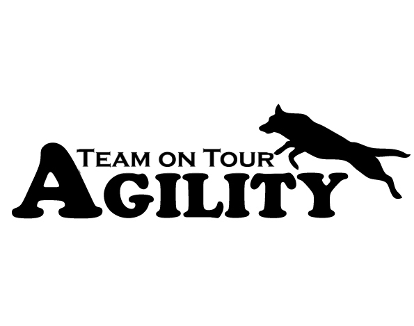 Aufkleber Agility Team On Tour Malinois 15x45cm