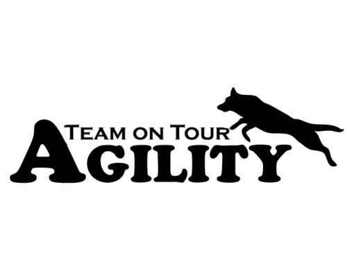Aufkleber-Agility Team on Tour Malinois (15x4,5cm)