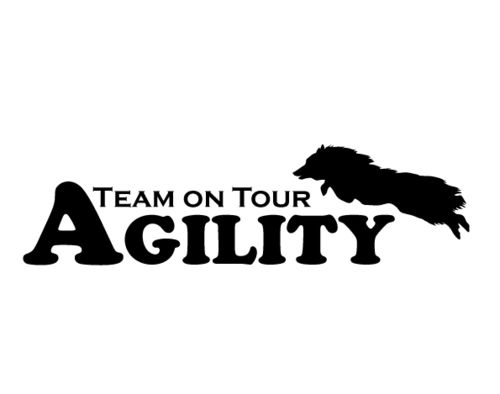 Aufkleber-Agility Team on Tour Sheltie (15x4,5cm)