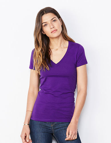 Bella Jersey Deep V-Neck T-Shirt