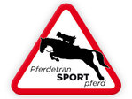 "Schild ""Pferdetransport"" - Springreiter"